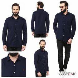 SPEAK Casual Wear Men Plain Cotton Linen Shirts, Machine wash