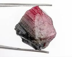 23 Cts Watermelon Tourmaline Raw Crystal Gemstone Rough
