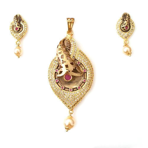 Antique gold plated classic pendant set at rs 449 piece mota antique gold plated classic pendant set mozeypictures Gallery