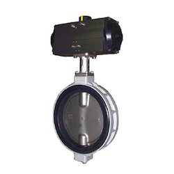 Pneumatic Rotary Operated Butterfly Valve with CF8 Disc