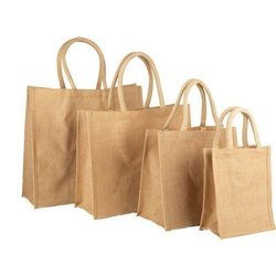 Plain Jute Shopping Bag, Size: Custom Size