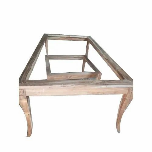 Brown Rectangular Wooden Table Structure, Furniture Palace