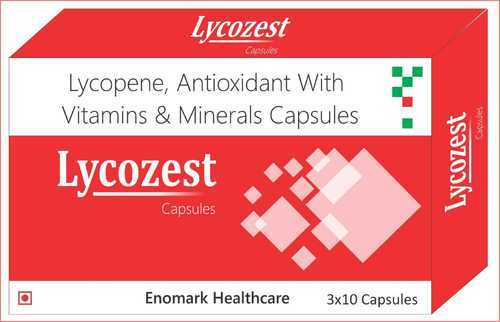 Medicine Grade Lycopene, Antioxidant With Vitamins And Minerals Capsules, Packaging Type: Box , For Clinical