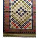 Flat Weave Kilim Woolen Durrie Carpet For Living Room
