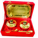 Silver Gold Plated Brass Mouth Freshener Set Of Four