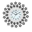 Floral Acrylic Wall Clock