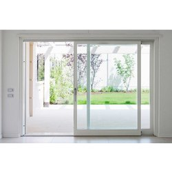 Beezer White UPVC Sliding Glass Door