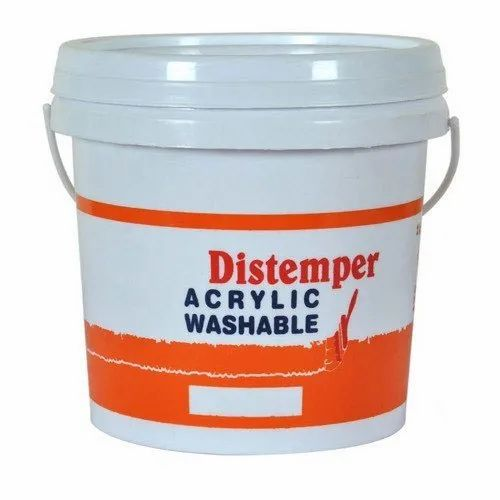 Matt Liquid Acrylic Washable Distemper Paint For Wall, Packaging Type: Bucket