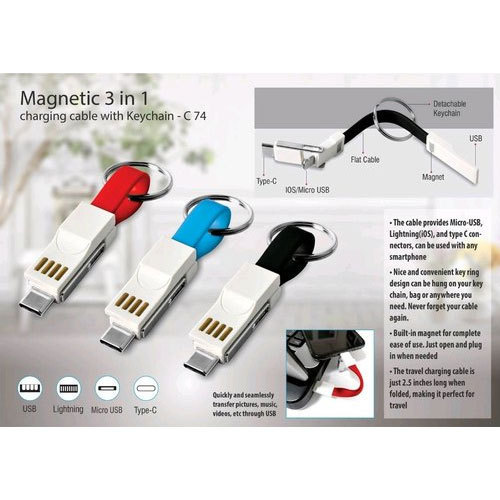 Stainless Steel Magnetic 3 in 1 Keychain, Packaging Type: Packet