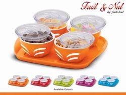 Fruit N Nut Bowl Tray Set