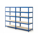 Ms Color Coated Slotted Angle Rack