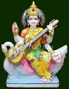 Marble Saraswati Mata Murti