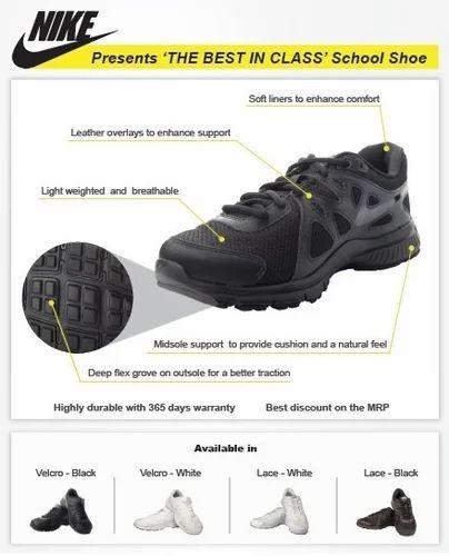 b0b1ab02e8a Black   White Unisex - Lacing Nike Revolution 2 School Shoes - Lacing (4Y -