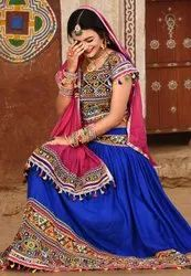 Indian Navratri Chaniya Choli - Rayon Cotton Lehenga- Export Quality Ghagra