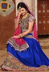 Indian Navratri Chaniya Choli - Rayon Cotton Lehenga- Export Quality Ghagra