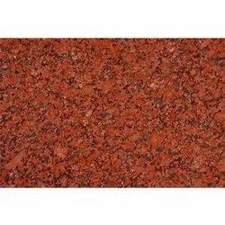 Polished Red Granite Slab, For Flooring, Thickness: 5-10 mm