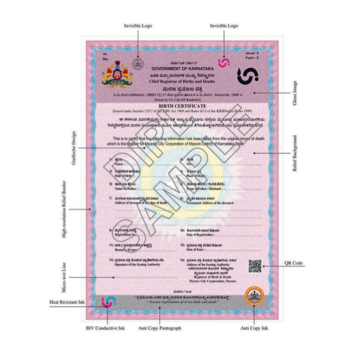 20086 Birth Certificates With Security