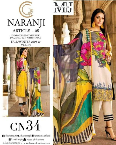 6d4241201b Original Pakistani lawn suit, कढ़ाई वाला ...