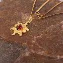 Designer Rhodium Gold Plated Pendant