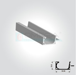 Aluminium Shutter Handles - G Profile With End Cap Manufacturer from