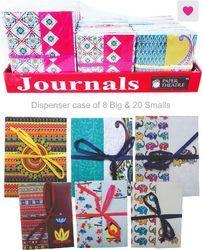 12 X 17 Cms ASSORTED PRINTS & COLORS Printed Soft Cover Gift Journal ( BIG