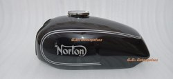 Norton Commando Roadster Black Painted Gas Fuel Petrol Tank - Brand New