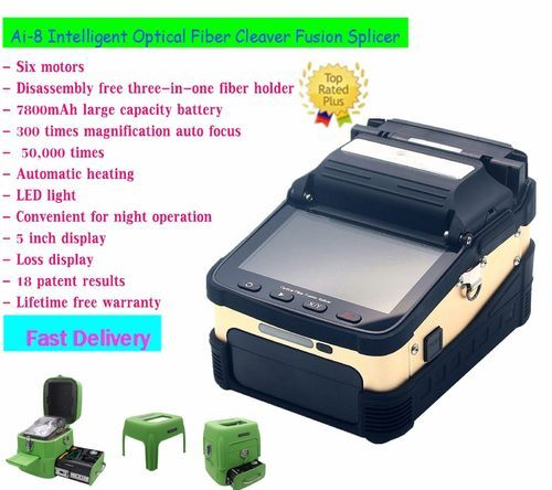 English Version Optical Fiber T60 Fusion Splicer Fiber Equipment Mental Fusion Splicer T60 Auto Heating With Convient Tools Communication Equipments