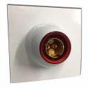 White Polycarbonate Batan Holder Modular ( Marvel), For Electrical Fitting, Base Type: B22