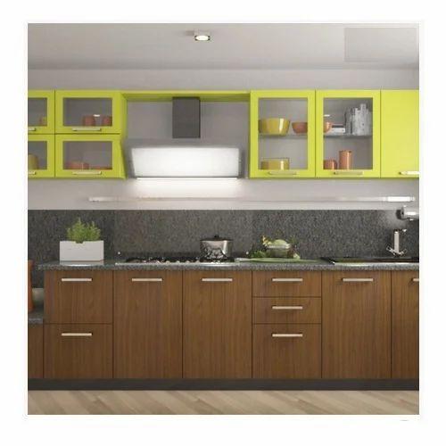 Single Wall Modular Kitchen, Contemporary Kitchen Designer