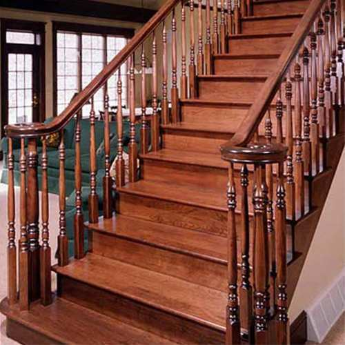 Wooden Staircase Railing
