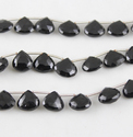 Black Spinel Briolette Faceted Stone Beads