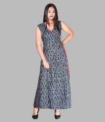 Cotton Maxi Long Dress