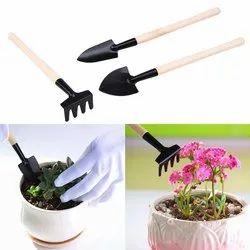 Wooden Handle + Iron Head 3PCS Garden Tools