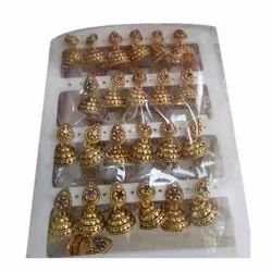 Party Wear Ladies Brass Earring