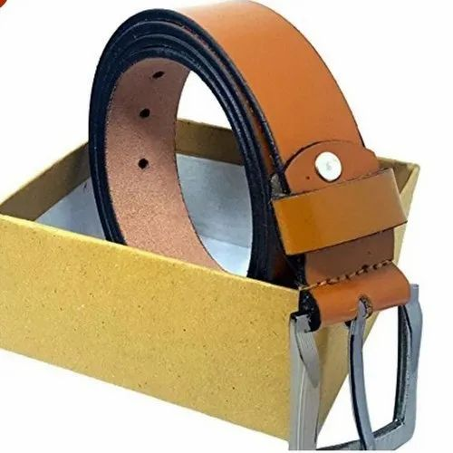 Tan Mens Designer Leather Belts