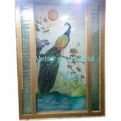 Multicolor Meher Glass World Printed Designer Glass
