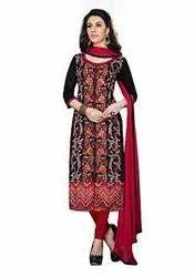 Net Regular Wear Cotton Dress Material, GSM: 50-100