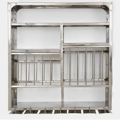 Silver Wall Mount Plate Rack