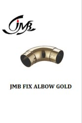 Stainless Steel Fix Elbow Gold Railing Pipe