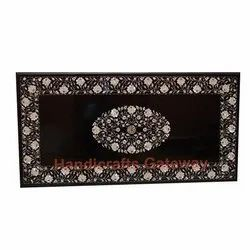 Mother of Pearl Inlay Black Marble Table Top