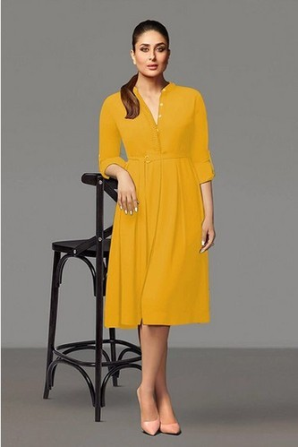 16749de8e73 Rayon Casual And Festival Yellow Colour Top Western Tops, Rs 900 ...