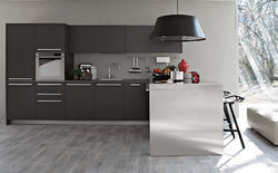 L Shape Italian Modular Kitchen, Warranty: 1-5 Years