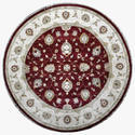 Round Shape Pure Wool Carpet  For Home