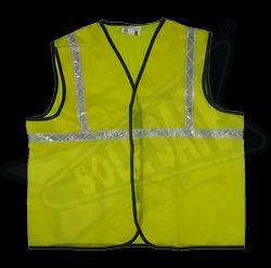Nylon Fluorescent Orange Or Green Reflective Jacket