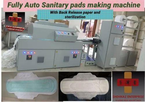 Sanitary Napkin Making Machine - Automatic Back Release