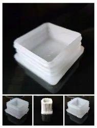 White Sanitizer Stand plastic caps, Size: 1