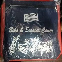 Black Polyester Bike And Scooter Body Cover