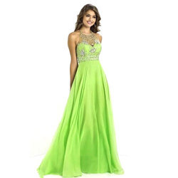 Tulle Fabric Party Wear Maxi Gowns