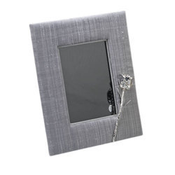 Wood Silver Plated Photo Frame