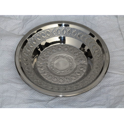 Stainless Steel Designer Soup Plate